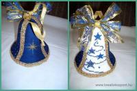 Karácsonyi pályázat - Karácsonyi dísz hungarocell harangból - Kész