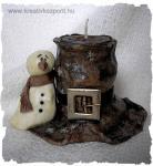 Karácsonyi pályázat - Kalapos mécsestartó - Kész