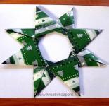 Karácsonyi pályázat - Karácsonyi csillag papírból - Kész