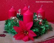 Karácsonyi pályázat - Boás adventi koszorú - Kész