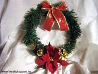 Karácsonyi pályázat - Mikulásvirágos ajtódísz