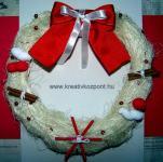 Karácsonyi pályázat - Karácsonyi ajtódísz - Kész