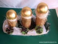 Karácsonyi pályázat - Aranygömbös hengerek