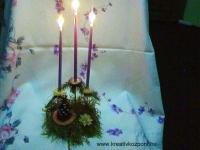 Karácsonyi pályázat - Csodálatos gyertyatartó - Kész