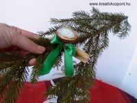 Karácsonyi pályázat - Gyertyatartó dióból - Kész