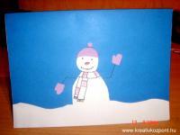 Karácsonyi pályázat - Hóemberes képeslap - Kész