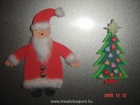 Karácsonyi pályázat - Mikulás és karácsonyfa hűtőmágnesek