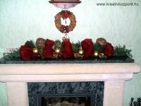 Karácsonyi pályázat - Kandallópárkány díszítés