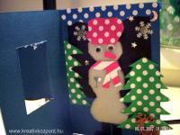 Karácsonyi pályázat - Hóemberes képeslap