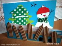 Karácsonyi pályázat - Képeslap hóemberrel