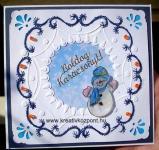 Karácsonyi pályázat - Karácsonyi képeslapok többféle technika ötvözésével