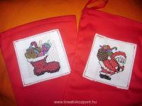 Karácsonyi pályázat - Csizma keresztszemes díszítéssel