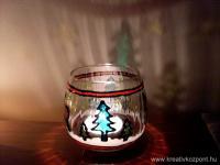 Karácsonyi pályázat - Üveg mécsestartó - Kész