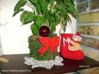 Karácsonyi pályázat - Mohás karácsonyi cserép