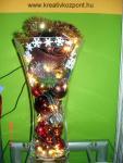 Karácsonyi pályázat - Üveg kelyhek bedíszítve