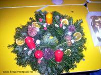 Karácsonyi pályázat - Adventi koszorú