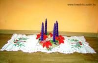 Karácsonyi pályázat - Lila gyertyás adventi koszorú