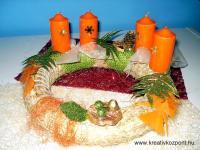Karácsonyi pályázat - Natúr asztali koszorú