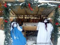 Karácsonyi pályázat - Karácsonyi pályázat - Betlehemes házikó