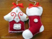 Karácsonyi pályázat - Díszek filcből