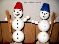 Karácsonyi pályázat - Hóember karácsonyi dísz
