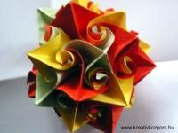 Karácsonyi pályázat - Papírlabda karácsonyfa dísz