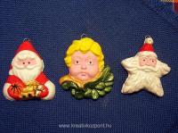 Karácsonyi pályázat - Karácsonyi gipszfigurák - Kifestve