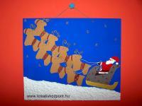 Karácsonyi pályázat - Mikulás szánja - papírkép