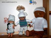 Karácsonyi pályázat - Téli babaruhák zokniból