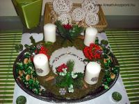 Karácsonyi pályázat - Egyszerű adventi koszorú - Kész