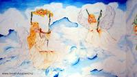 Karácsonyi pályázat - Angyalkás falfestmény