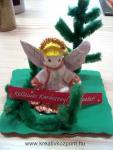 Karácsonyi pályázat - Karácsonyi asztaldísz angyalka - Hozzávalók
