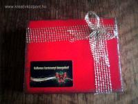 Karácsonyi pályázat - Ajándék bonbon tartó doboz