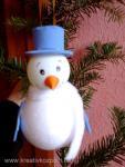 Karácsonyi pályázat - Hóember a fenyőfán