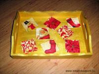 Karácsonyi pályázat -Karácsonyi tálca
