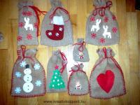 Karácsonyi pályázat - Mikulás zsákok - A zsákok