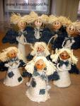Karácsonyi pályázat - Zsákvászon angyalkák