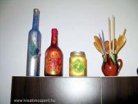 Olvasói tippek - Decoupage variációk - Boros üvegek
