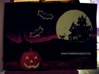 Világító pályázat - Világító Halloween kép - Sötétben