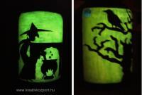 Viágító festék pályázat - Halloween lámpás - Sötétben