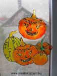 Halloween pályázat - Üvegmatrica ablakdísz Halloween-ra