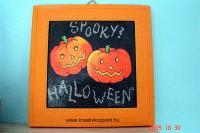 Halloween pályázat - Gipszkép Halloween-re - Kész