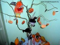 Halloween pályázat - Halloween fa