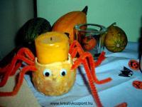Halloween pályázat - Halloween-pók (mécses) - Kész