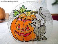 Halloween pályázat - Üveg mécsestartó Halloween-ra