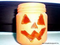 Halloween pályázat - Tökfej mécsestartó - Kész