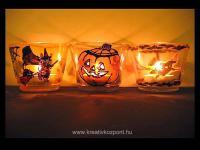 Halloween pályázat - Halloween mécsestartók - Kivilágítva
