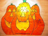 Halloween pályázat - Üvegmatrica Halloween-ra