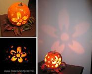 Halloween pályázat - Virágba borult tök - Kész