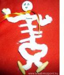 Halloween pályázat - Csontváz zsenilíadrótból